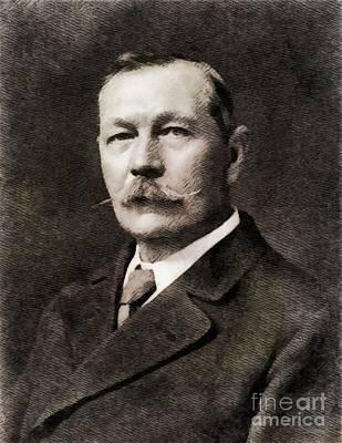 Literature Painting - Sir Arthur Conan Doyle, Literary Legend by John Springfield