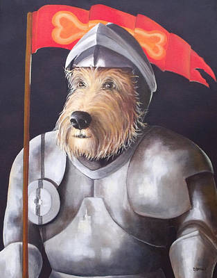Sir Barksalot Art Print by Diane Daigle