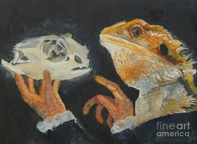 Sir Bearded-dragon As Hamlet Art Print by Jessmyne Stephenson