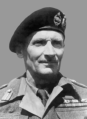 Fields Digital Art - Sir Bernard Law Montgomery  by War Is Hell Store
