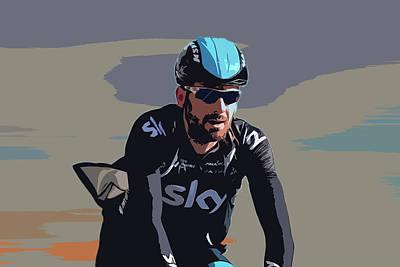Cyclist Photograph - Sir Bradley Digital Art by Smart Aviation