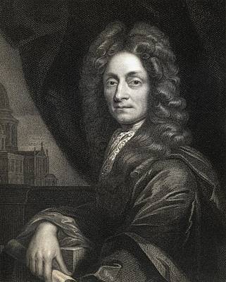 Wren Drawing - Sir Christopher Wren 1632-1723. English by Vintage Design Pics