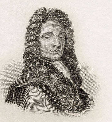 Wren Drawing - Sir Christopher Wren, 1632 To 1723 by Vintage Design Pics