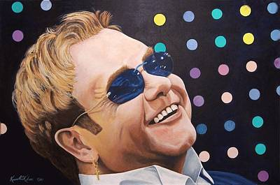 Piano Painting - Sir Elton by Kenneth Kelsoe