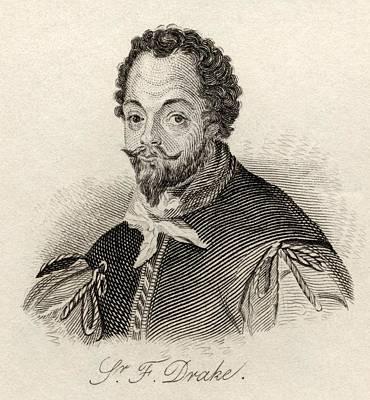 Drake Drawing - Sir Francis Drake C.1540 3-1596.vice by Vintage Design Pics