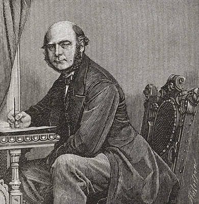 Galton Drawing - Sir Francis Galton, 1822 by Vintage Design Pics