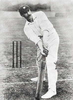 Cricket Drawing - Sir Francis Stanley Jackson, 1870 by Vintage Design Pics