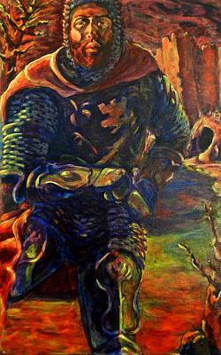 Norse Goddess Painting - Sir Gaiwan by David Matthews