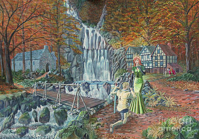 Rivers In The Fall Painting - Sir Galahad Becomes Queen's Champion by Anthony Lyon
