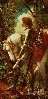 Knights Of The Roundtable Painting - Sir Galahad by George Frederic Watts