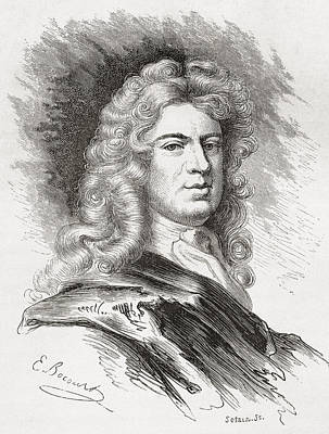 Kneller Drawing - Sir Godfrey Kneller, 1st Baronet, 1646 by Vintage Design Pics