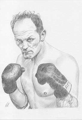 Heavyweight Drawing - Sir Henry Cooper Obe by Keith Miller