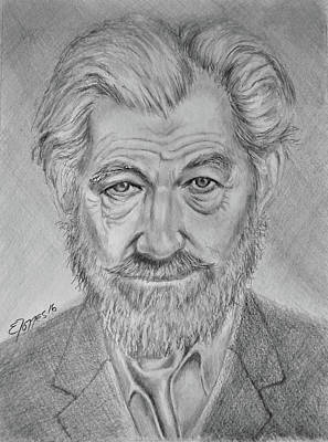 Drawing - Sir Ian Machellen by Edgar Torres
