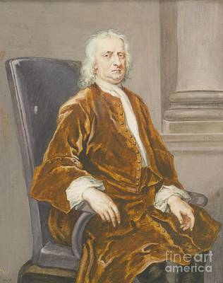 Newton Painting - Sir Isaac Newton by MotionAge Designs