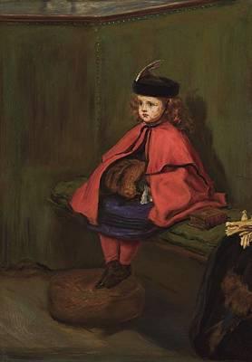 Male Painting - Sir John Everett Millais, P.r.a. 1829-1896 My First Sermon by Sir John Everett Millais