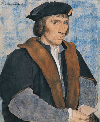 Drawing - Sir John Godsalve by Hans Holbein the Younger