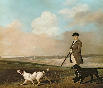 Dog In Landscape Painting - Sir John Nelthorpe by George Stubbs