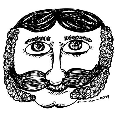 Dude Drawing - Sir Larry by Karl Addison