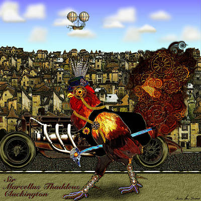 Sir Marcellus Thaddeus Cluckington Art Print