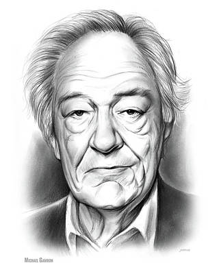 Drawing - Sir Michael Gambon by Greg Joens
