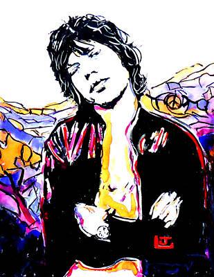 Rollingstone Painting - Sir Mick Jagger by John Leclerc
