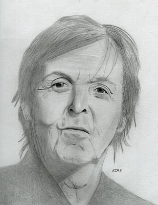 Drawing - Sir Paul Mccartney by Pat Moore