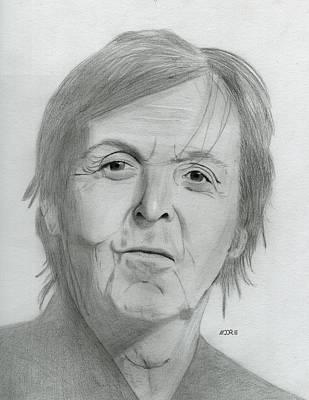 Drawing - Sir Paul Mccartney by Pat Moore