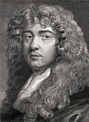 Self-portrait Drawing - Sir Peter Lely, 1618-1680. Dutch by Vintage Design Pics