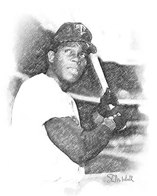 Drawing - Rod Carew by Stephen Mitchell