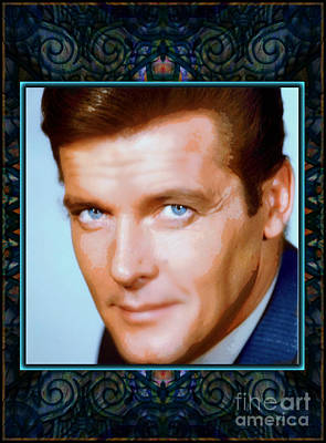 Mixed Media - Sir Roger Moore Rip by Wbk