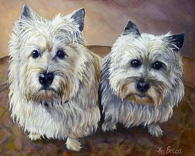 Painting - Cairn Terriers by FayBecca