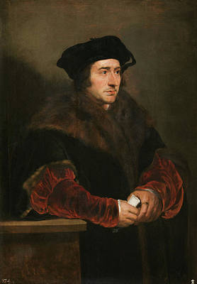 Male Painting - Sir Thomas More by Peter Paul Rubens