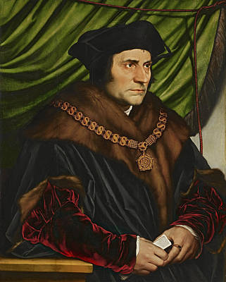 Christianity Painting - Sir Thomas More by War Is Hell Store