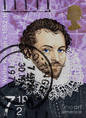 Photograph - Sir Walter Raleigh - Stamp by Paul W Faust - Impressions of Light