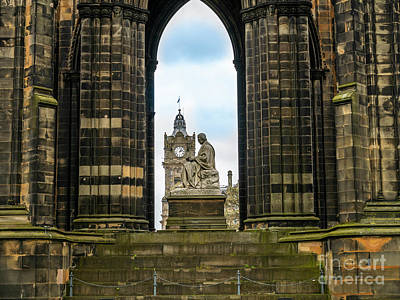 Photograph - Sir Walter Scott Monument by Jim Orr