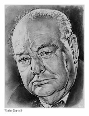 Wwii Drawing - Sir Winston Churchill by Greg Joens