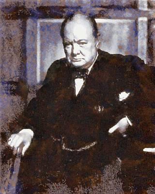 Churchill Painting - Sir Winston Churchill by Esoterica Art Agency
