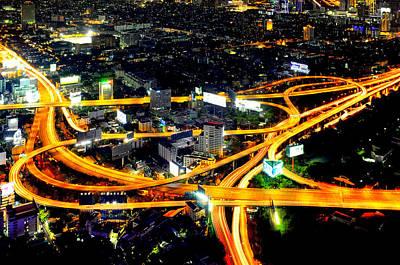 Photograph - Sirat Expressway Interchange by Fabrizio Troiani