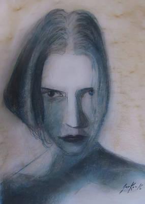Drawing - Siren From The Deep by Jarko Aka Lui Grande