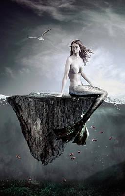 Fantasy Digital Art - Siren by Jacky Gerritsen