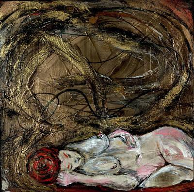 Joan Raspo Wall Art - Painting - Siren Sleeps by Joan Raspo