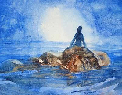 Mermaid Painting - Siren Song by Marilyn Jacobson