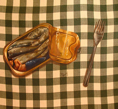 Sirene En Boite Art Print by Helene Fleury