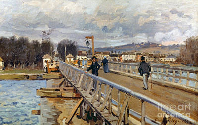 Painting - Sisley: Foot-bridge, 1872 by Granger