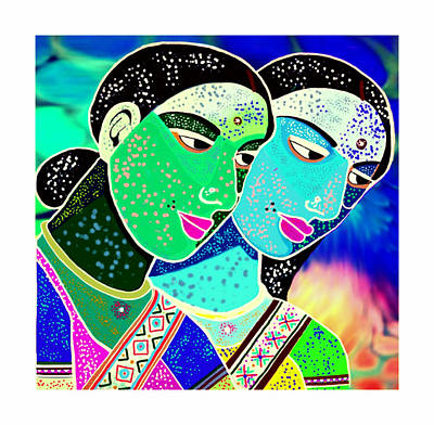 Painting - Sister Bonds-2 by Karunita Kapoor