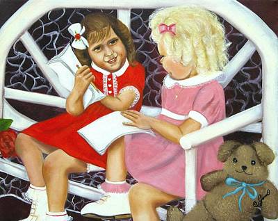 Painting - Sister Chat by Joni McPherson