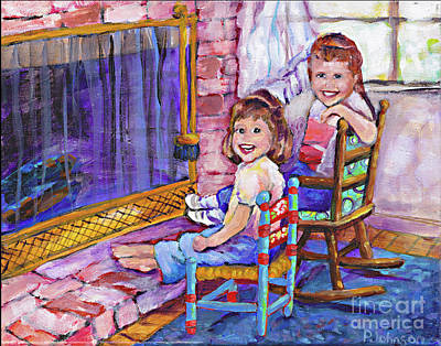 Painting - Sister Memories by Peggy Johnson