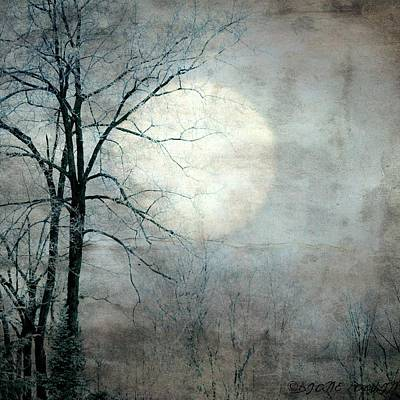 Mixed Media - Sister Moon by Diane Paquin