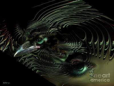 Digital Art - Sister Raven Series - 2 by Kira Bodensted