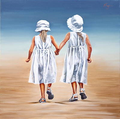 Painting - Sister S Walk by Natalia Tejera